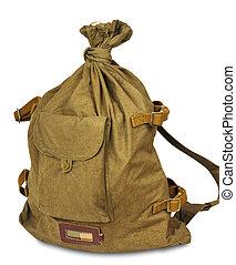 Army duffel bag - Standard Army duffel bag on a white...