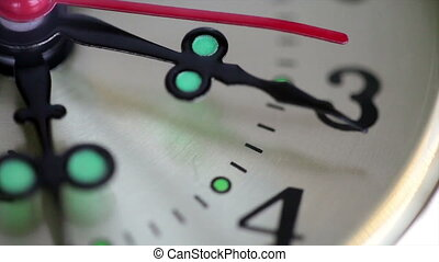 A close up of clock with second hand moving. HD video