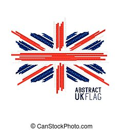 Abstract UK Flag Vector - Abstract UK Union Jack Flag Vector...
