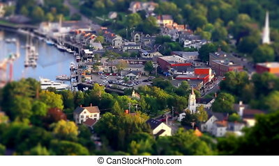 Tilt Shift Small town in Maine One