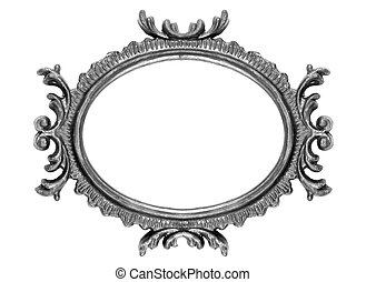 Retro Revival Old Ellipse Frame - Old Oval Picture Frame on...