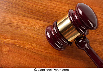 gavel - justice concept with copyspace, selective focus on...