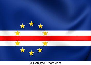 Flag of Cape Verde Close Up