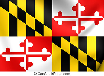 bandiera, di, Maryland, USA., ,