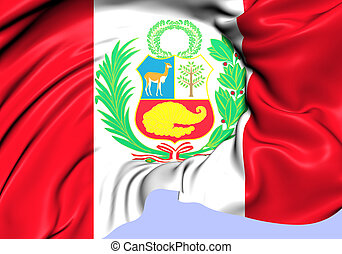 Flag of Peru. Close Up.