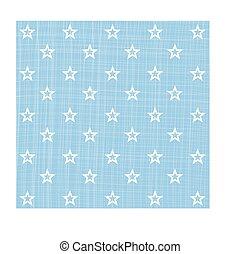 Light blue white star pattern