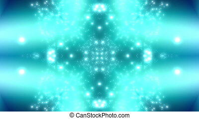 Blue green particle euphoria looping animated background