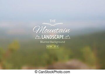 landscape - Vector blurred background of mountain landscape...