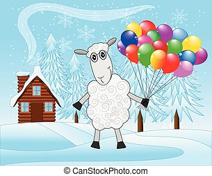 merry sheep with air marbles