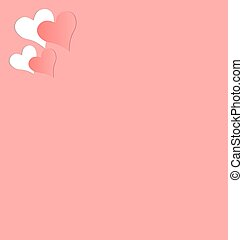 Two pink hearts cutted in paper - Two hearts cutted in pink...