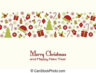 Christmas greeting card - Vector greeting card with...