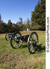 Canons in the battlefield in Vicksburg National Military...