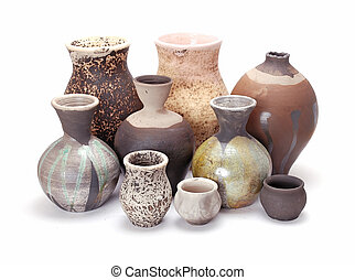 Pottery - colourfull pottery with glaze