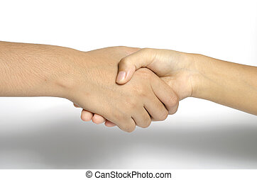shake hands - two people shake hands  business concept