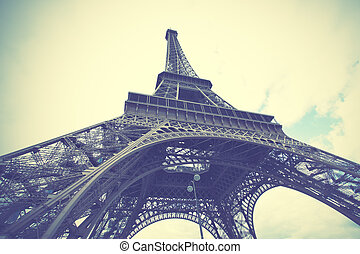 Eiffel Tower in Paris - The Eiffel Tower in Paris, France...
