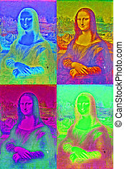 mona lisa andy warhol inspired - free interpretation of mona...