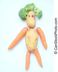 Vegetable Person  - a funny vegetable persom