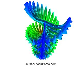 abstract - colored abstract shape. 3d figure