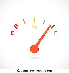 Gas Gage - Illustration of a colorful gas gage design...