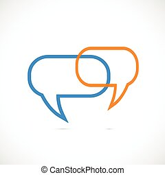 Chat Bubbles - Illustration of two abstract chat bubbless...