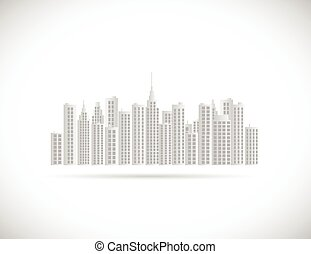 City Illustration - Illustration of a city isolated on a...