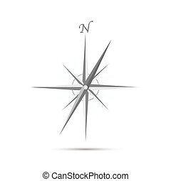 Compass Illustration - Illustration of an abstract compass...