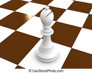 bishop chess. 3d