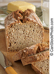 Irish Wheaten Bread - Irish wheaten bread soda bread made...