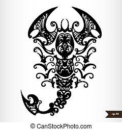 Zodiac signs black and white - Scorpio