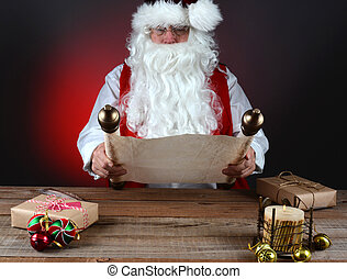 Santa Holding His List