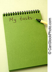 Hand drawing tasks list on notebook - Hand drawing task list...