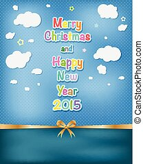 Festive background Vector illustration Christmas Greeting...