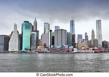 New York City, United States - Manhattan skyline from...