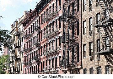 SoHo, New York City - New York City, United States - old...