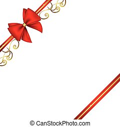 red ribbon and bow background with