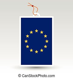 vector simple eu tag - symbol of made in european union -...