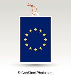 vector simple eu tag - symbol of made in european union -...