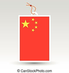 vector simple chinese price tag - symbol of made in china -...