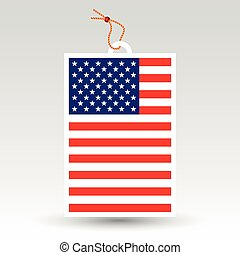 vector simple american price tag - symbol of made in usa -...