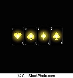 poker sign color vector
