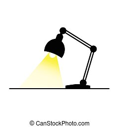lamp with bulb color vector