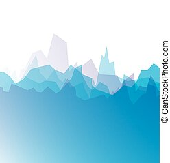 Mountain icon - Abstract blue mountains background. Vector...