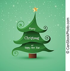 Christmas Greeting Card Merry Christmas lettering,