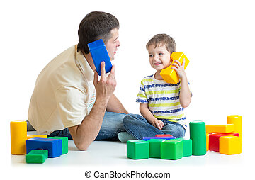 father and kid boy role play - dad and child kid boy role...