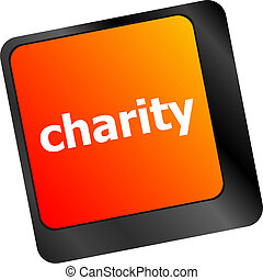 keyboard key for charity - business concept
