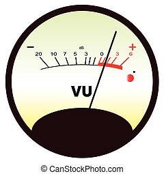 Round VU Meter - A typical analogue audio meter as found on...
