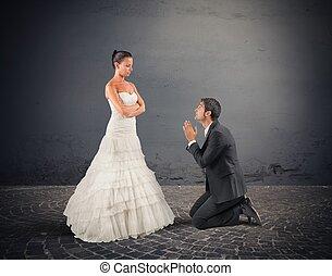 marido, rezar,