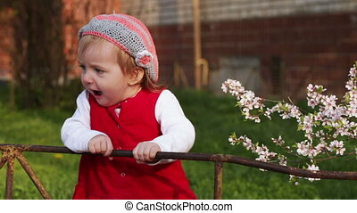 Child near fence