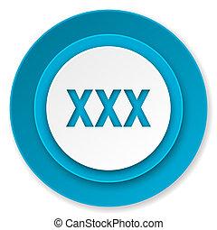 xxx icon, porn sign