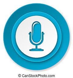 アイコン, マイクロフォン,  podcast, 印